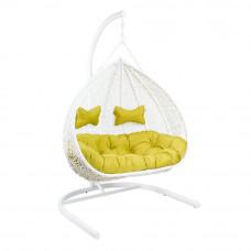 Подвесное кресло GEMINI White, двухместное