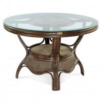 Обеденные и кофейные столы из натурального ротанга
